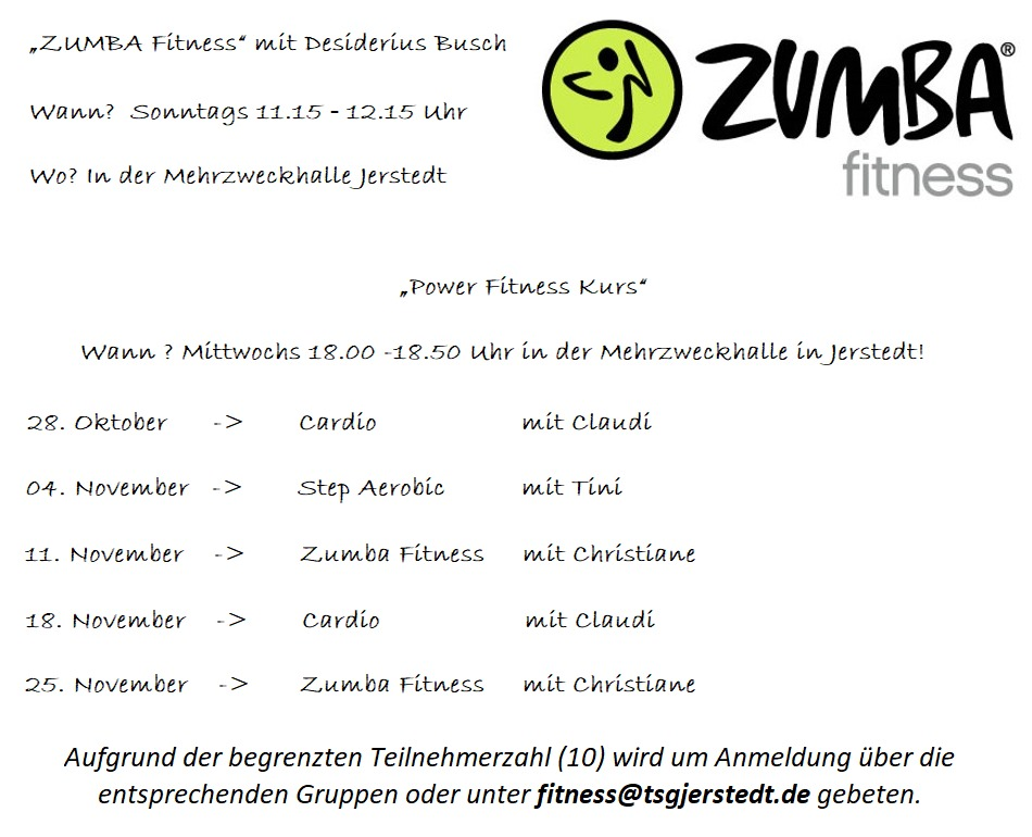 Neue Termine Power Fitness Kurs